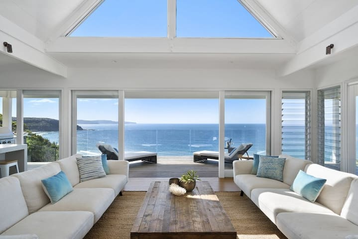 Luxury beach house with panoramic ocean views