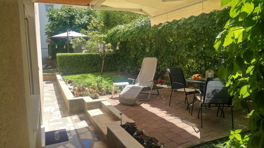 The garden is only for you dear guests of the apartment Ivana, designed for relaxation where you can enjoy your favorite drink or read a good book. You can sunbathe or be completely in the shade.