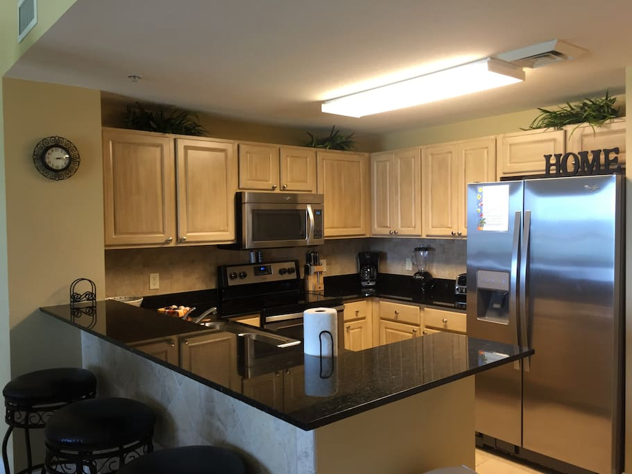 Fully stocked kitchen for your stay