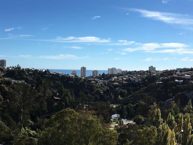 Vista del Mar y Cerros desde la Terraza
