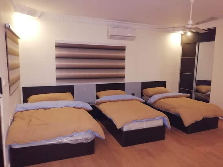Rayyan Hills apartment, private triple bedroom