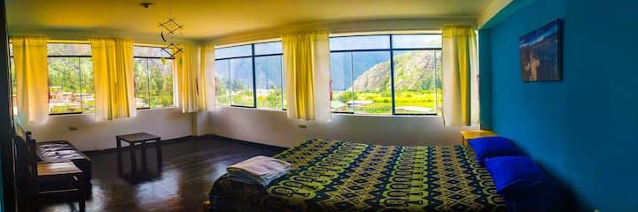 alojamiento comodo en ollantaytambo +vistas valle