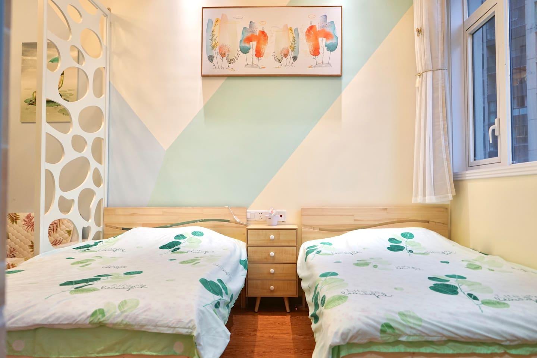 2张1.2*2的床,标准间设置