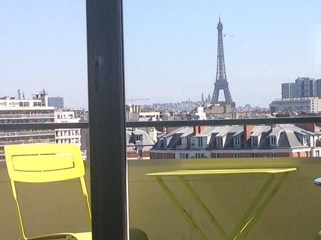 Beautiful view Eiffel Tower modern flat - Paris - Daire
