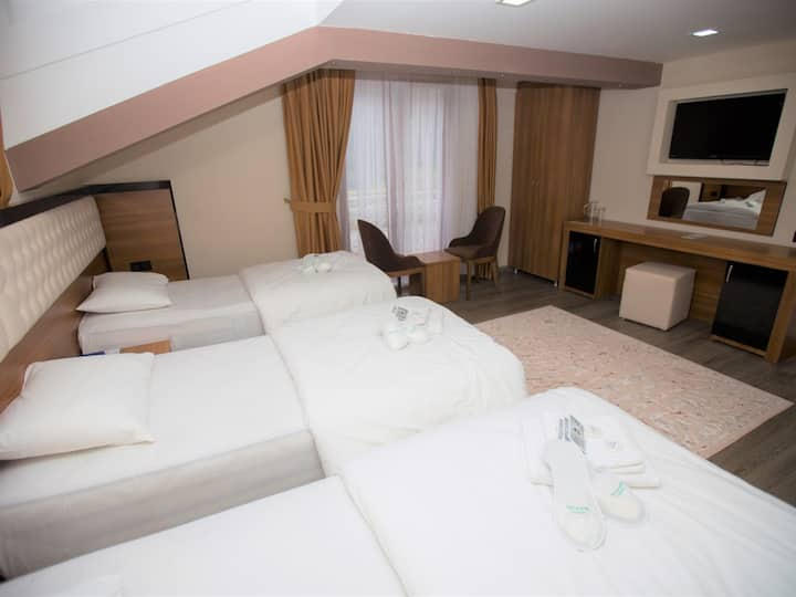 Deluxe Triple Room with Lake View - Yayla Hotel