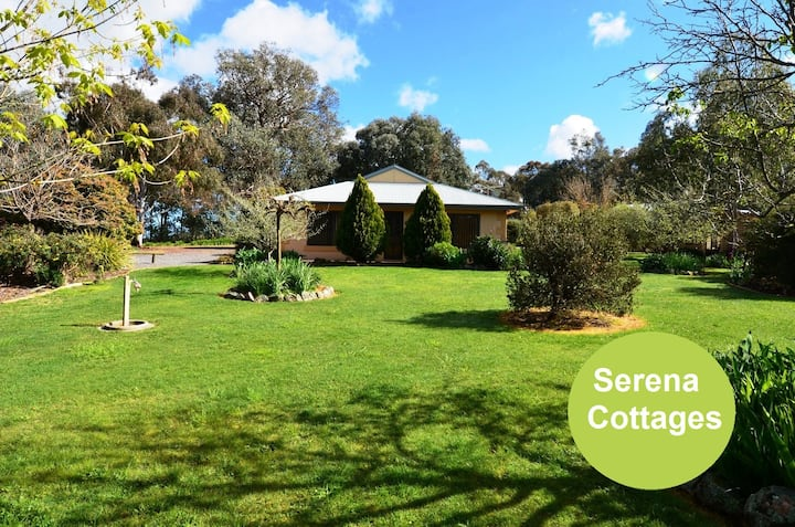 Serena Cottages relax in a tranquil bush setting