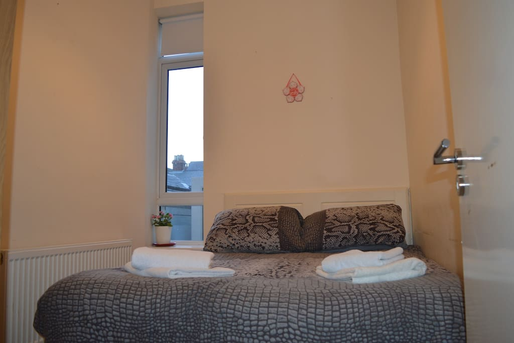 A lovely comfortable bed to rest after your Dublin adventures (bedroom 1)