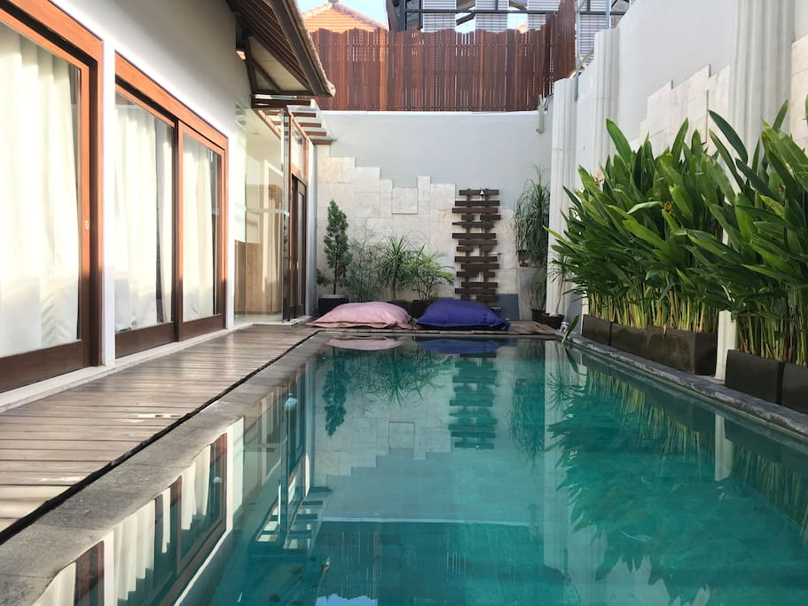 Every villa is a one-bedroom villa with a private pool (no sharing of pool)