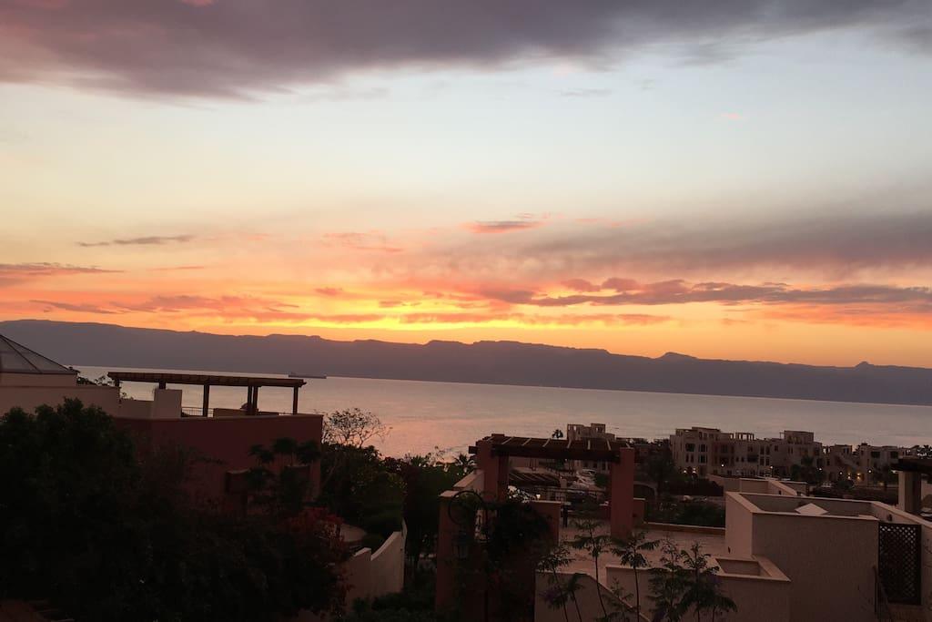 The million dollar sunset view!