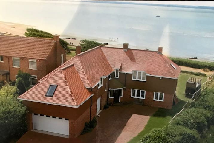 Large family home on the seafront