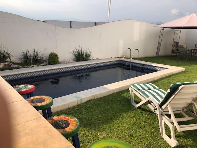 Casa de descanso con alberca en Cuautla Morelos
