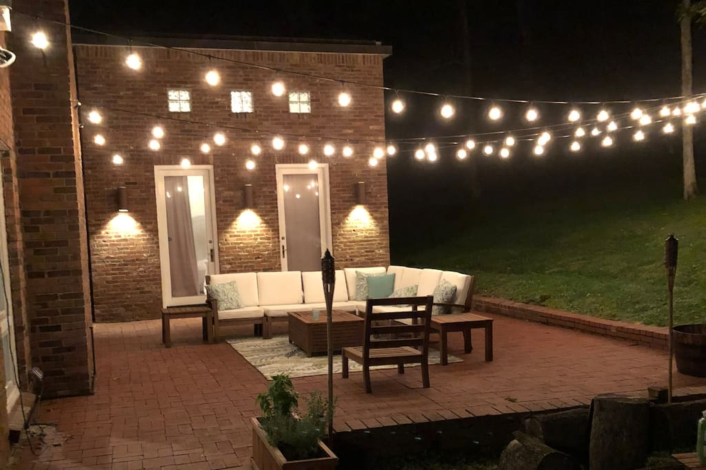 Our outdoor patio. It's pretty awesome in person. I definitely need to take another pic!