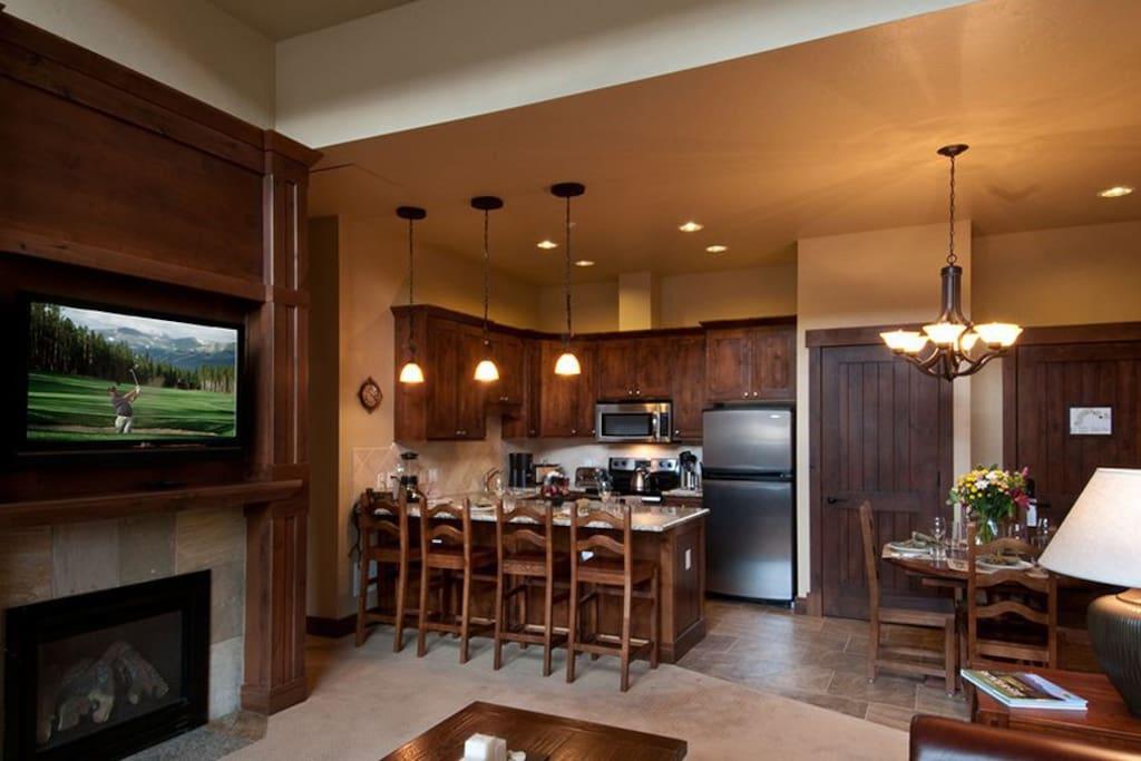 Living room / Kitchen in master suite.