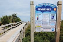 The Den is located at the Tennessee Avenue access ramp. Close to everything in Carolina Beach.