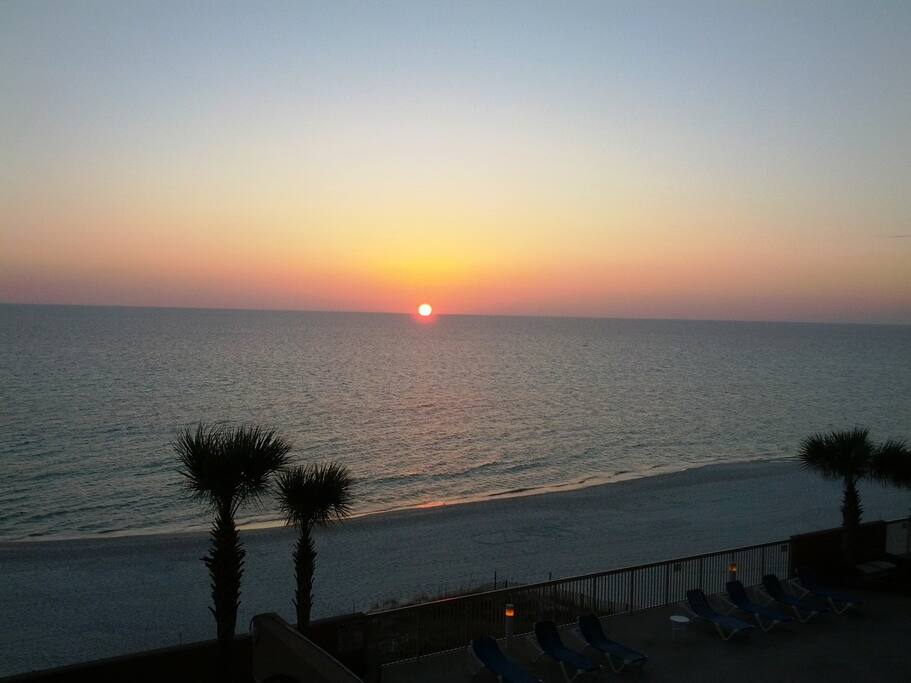 Watch Beautiful Sunset from the Balcony