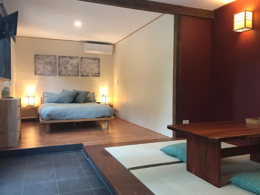 New, purpose built master bedroom suite with own tatami mat retreat and private courtyard garden