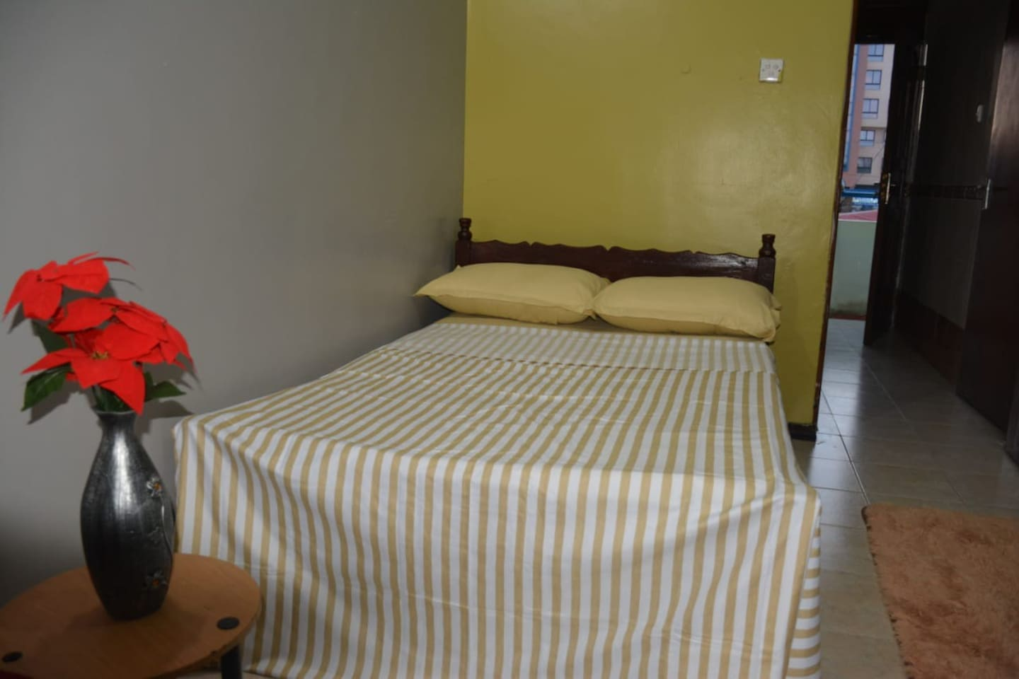 Bedroom with sufficient space, there is a balcony you can relax after sound sleep