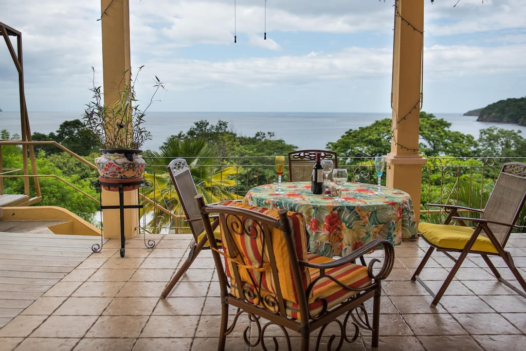 Ocean View, hear the waves from the terrace.