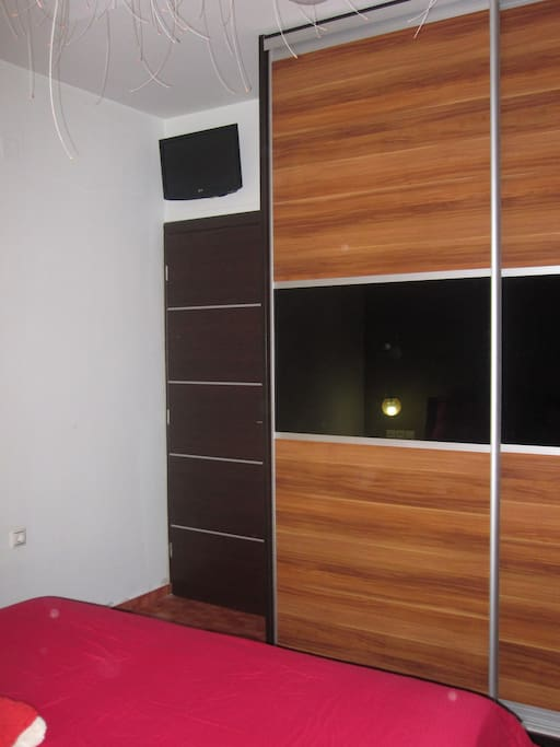 Bedroom Tv  and Double Wardrobe