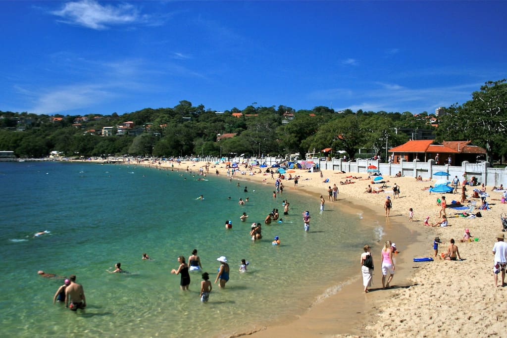 Balmoral Beach is just a 10 minute walk away (plus there's a free shuttle if you prefer)