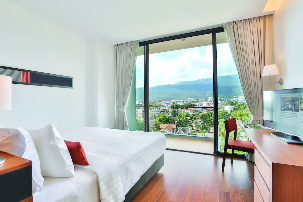 King Bed with Mountain View or Twin Beds with City View is subjected to room availability on arrival date