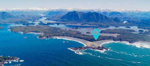Surf Shack Property is at a Prime Location 200 feet from World Renowned Chesterman Beach and 5 Km south of Tofino