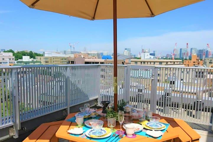 New! 1BR Penthouse with views! Shinjyuku Harajyuku