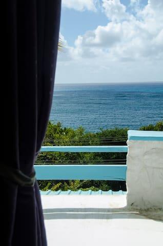 Upper balcony from master