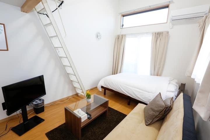 Enjoy Hotel 101☆四ツ木駅徒歩3分☆浅草・スカイツリー便利☆フリーWI-FI☆最大5名
