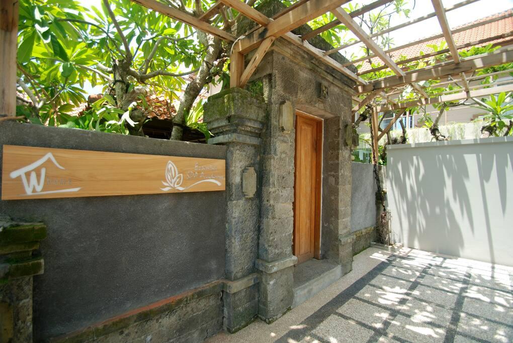 Gapura entrance of The Villa