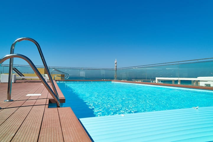 swimming pool for guests of the building