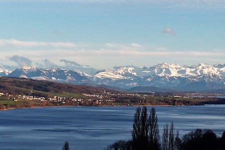 Beautiful Lake + Alpine views - Birrwil - Apartamento