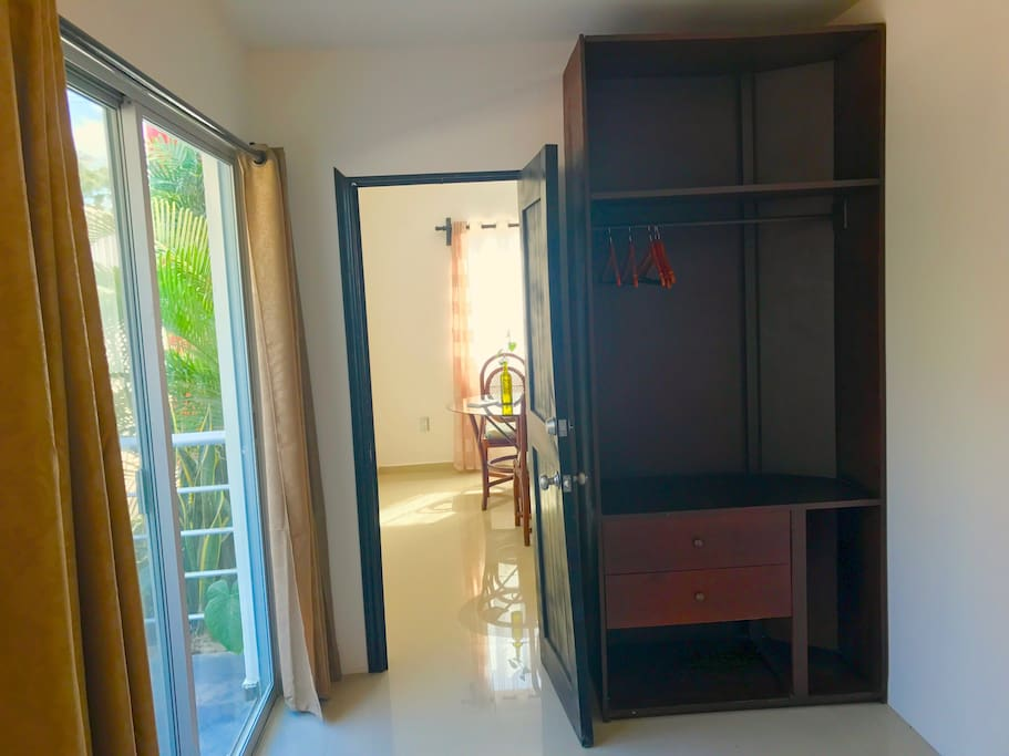Great closet space and private balcony