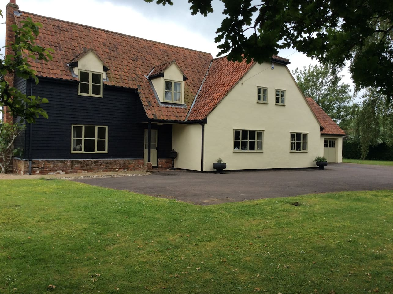 Front of House with ample off road parking