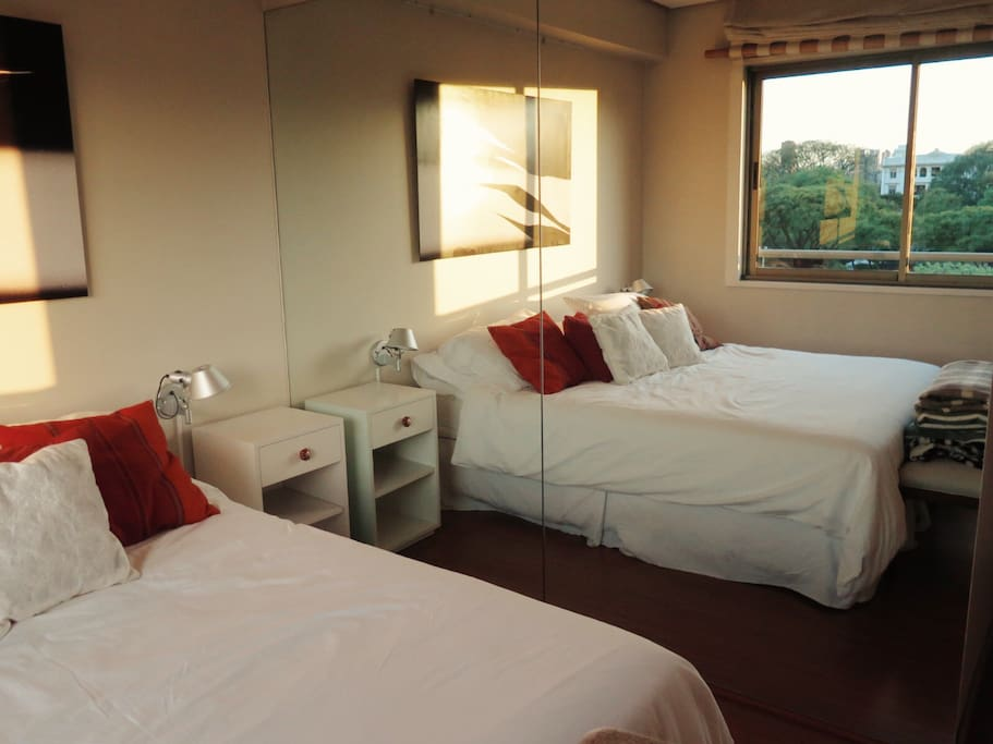 Suite with very cozy and nice view. With dressing area and bathroom.