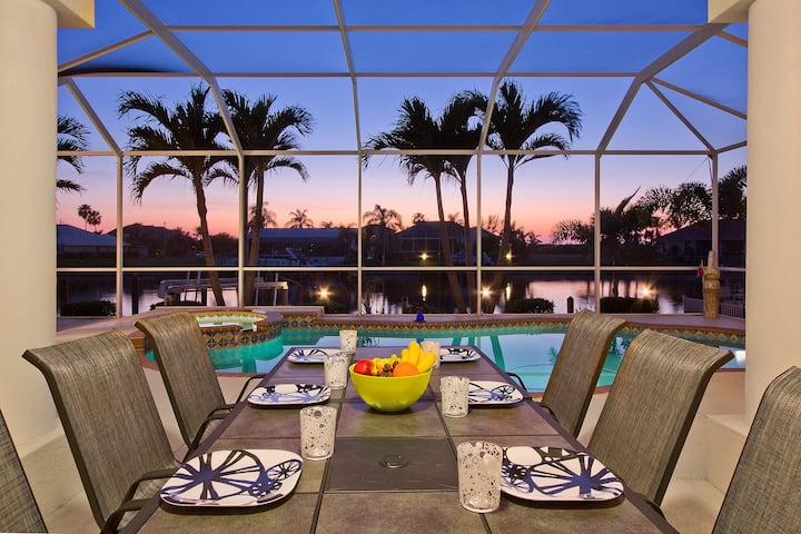 Beautiful Sunsets and waterfront w/Pool