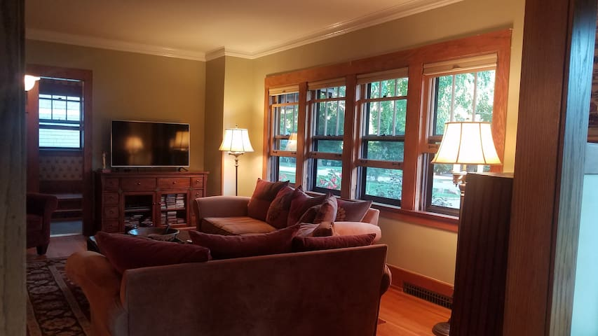 Living room, view from the sun room looking SE.