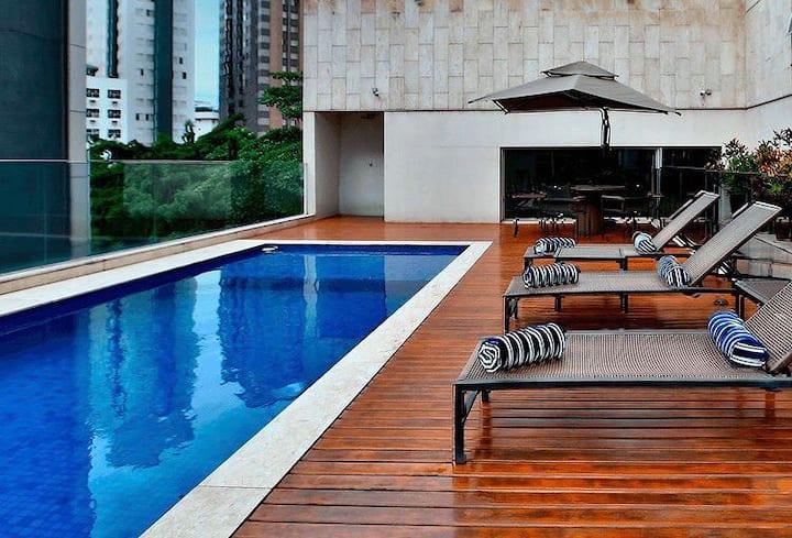 Flat em um dos melhores hotéis de Lourdes BH