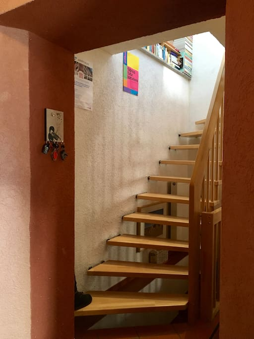 Get upstairs to access your room!