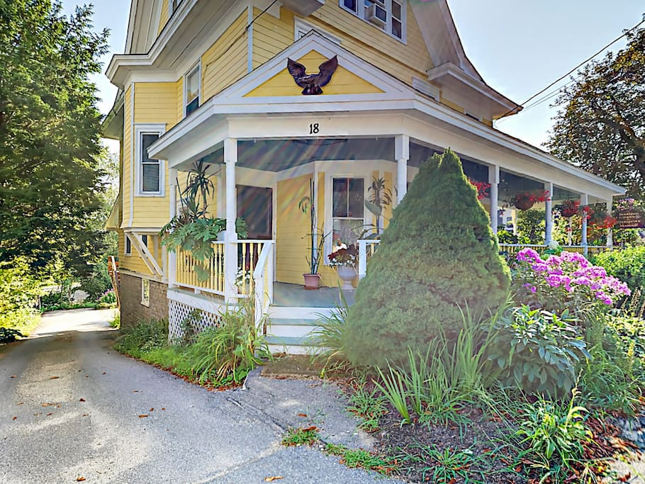 The crows' nest apartment sits at the top of a charming three-level home, professionally cleaned and managed.