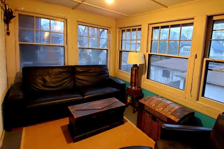 4 Season sleeping porch (upstairs) with sleeper sofa
