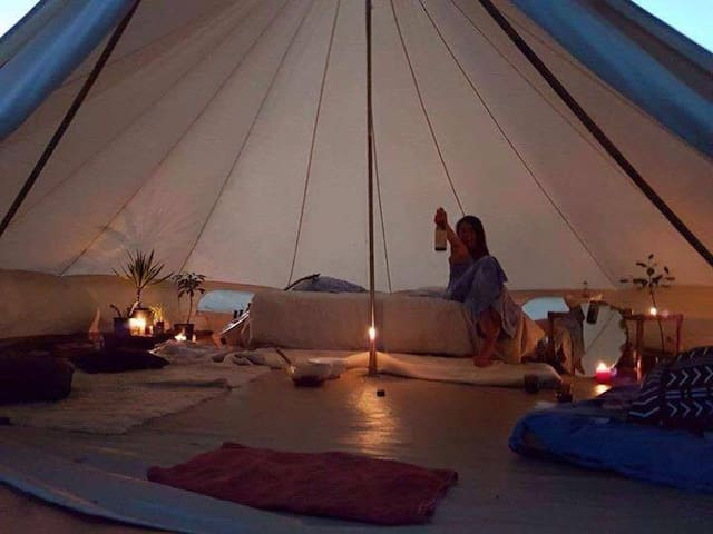 Glamping on the Beach Front in Ruby Bay - Ruby Bay - Tipi