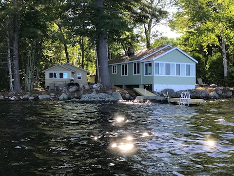 TWO Waterfront Camps on Sebago