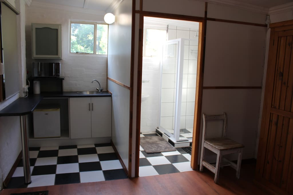 En-suite shower and kitchenette