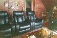 Power recliners in common media room