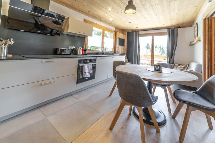 Les Carlines | Beautiful renovated apartment near the ski slopes