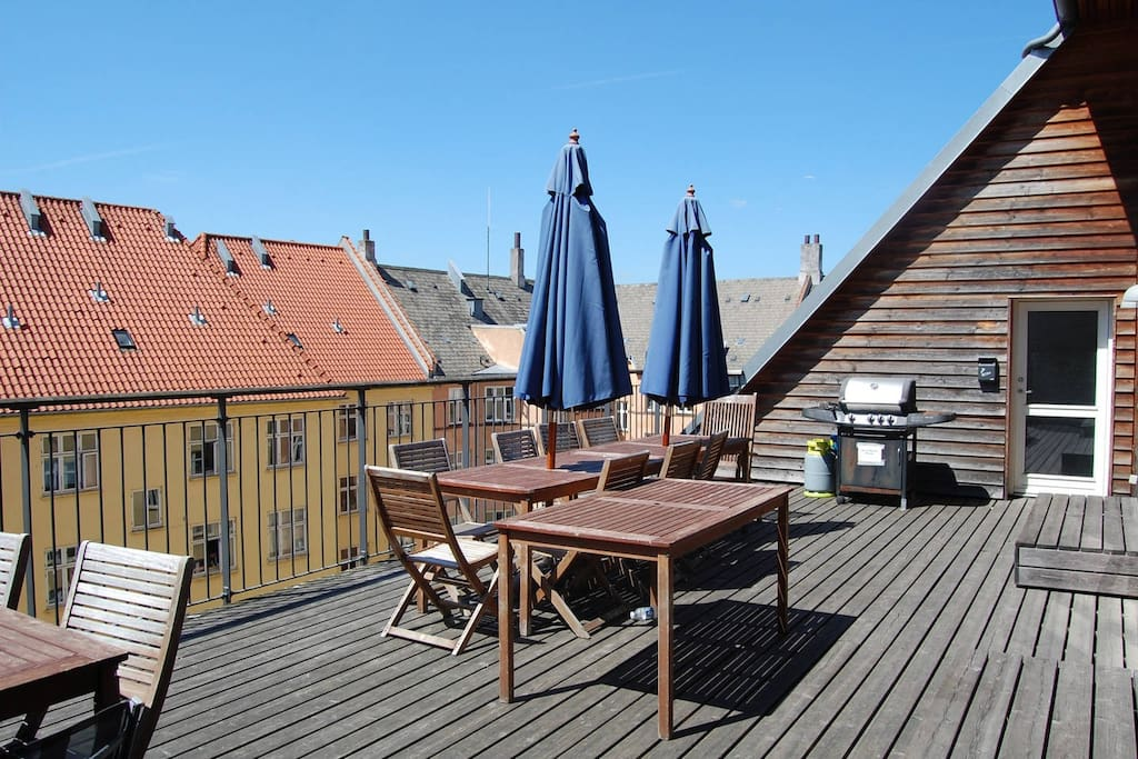 Shared roof top terrace with grill