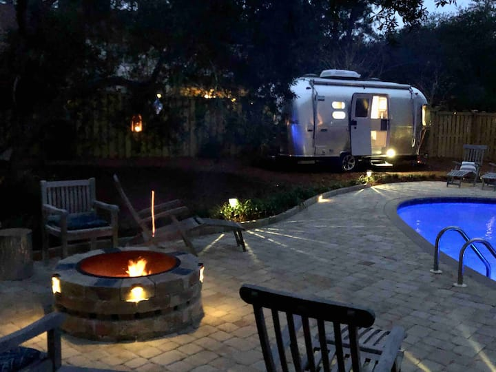 Airstream~heated pool~close to beach