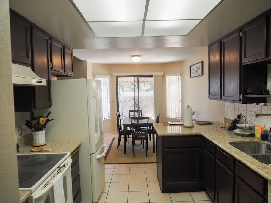 Kitchen Area microwave and all necessary kitchen utensils  available