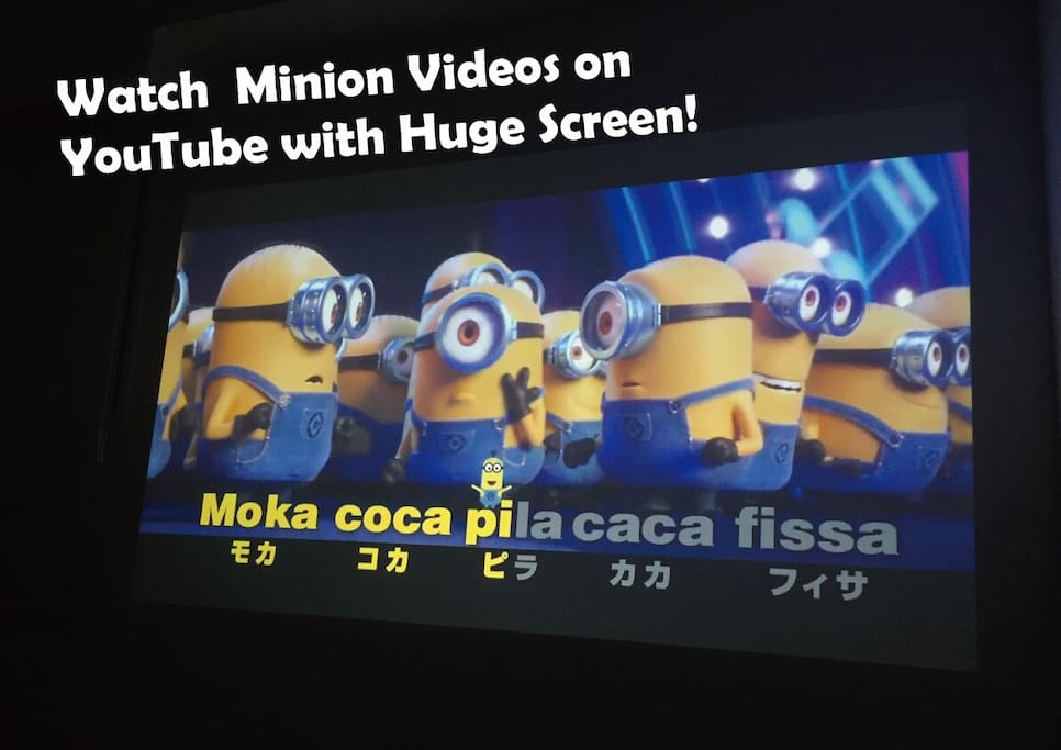 Watch Minion Videos on YouTube with Huge Screen!